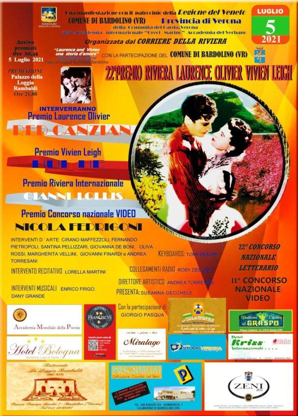 Locandina 22° premio Riviera Laurence Olivier Vivien Leigh